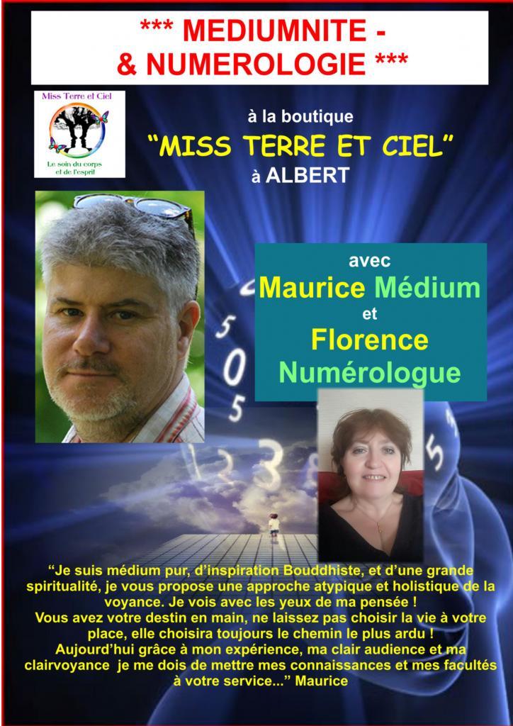 Maurice-Médium pur, Praticien Reiki, Conférencier et Florence Numérologue,