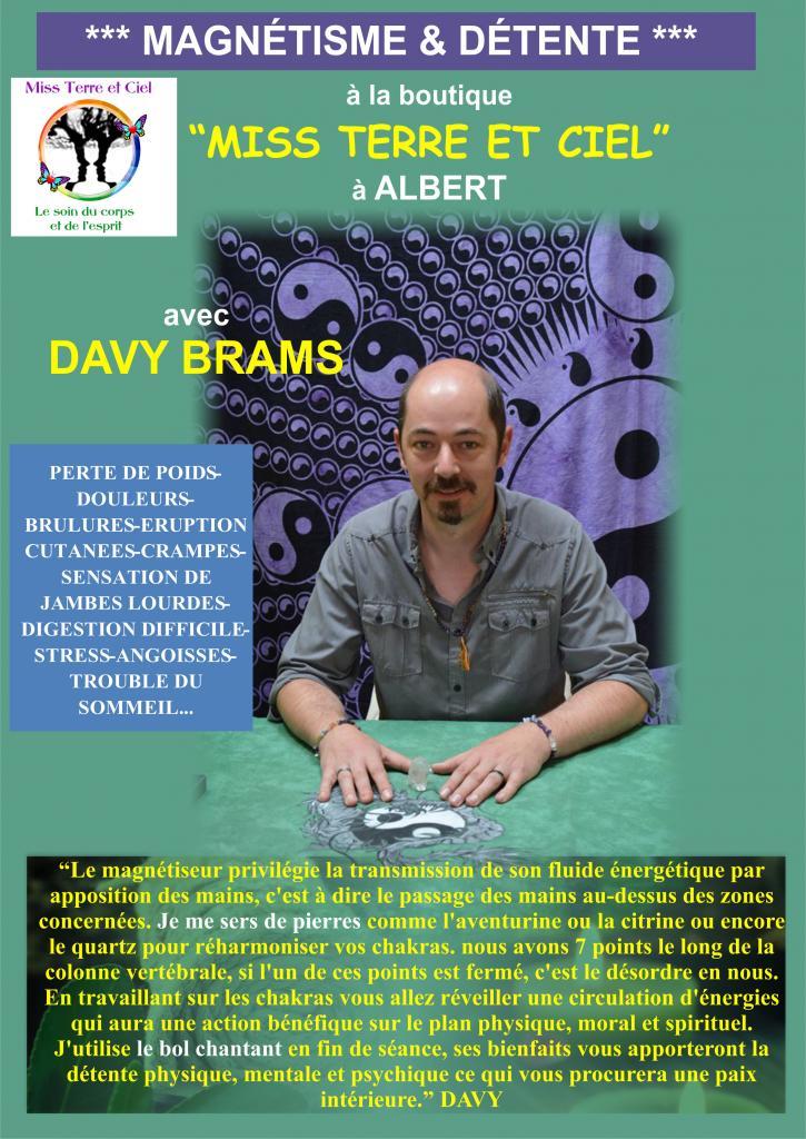 DAVY BRAMS-Magnétiseur, Voyant, Message spirit par écriture automatique