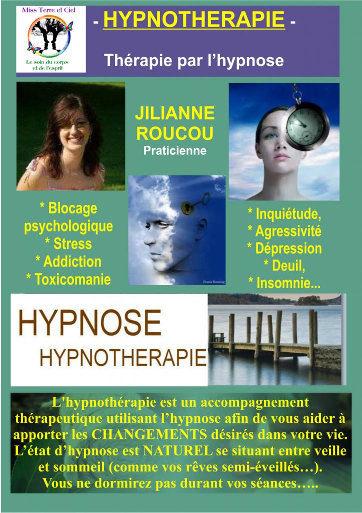 Jiliane Roucou-Praticienne Reiki et Hypnothérapeute