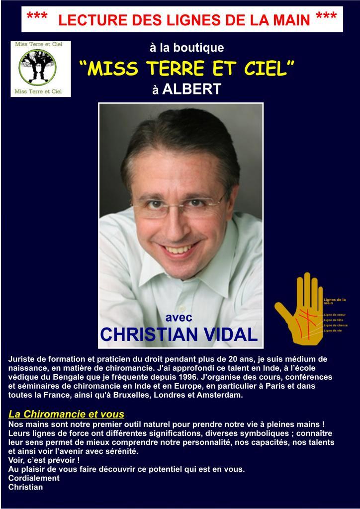 Christian Vidal - Voyance dans les lignes de la main