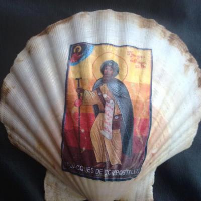 Coquille des Randonneurs à l'éffigie de St Jacques de Compostelle