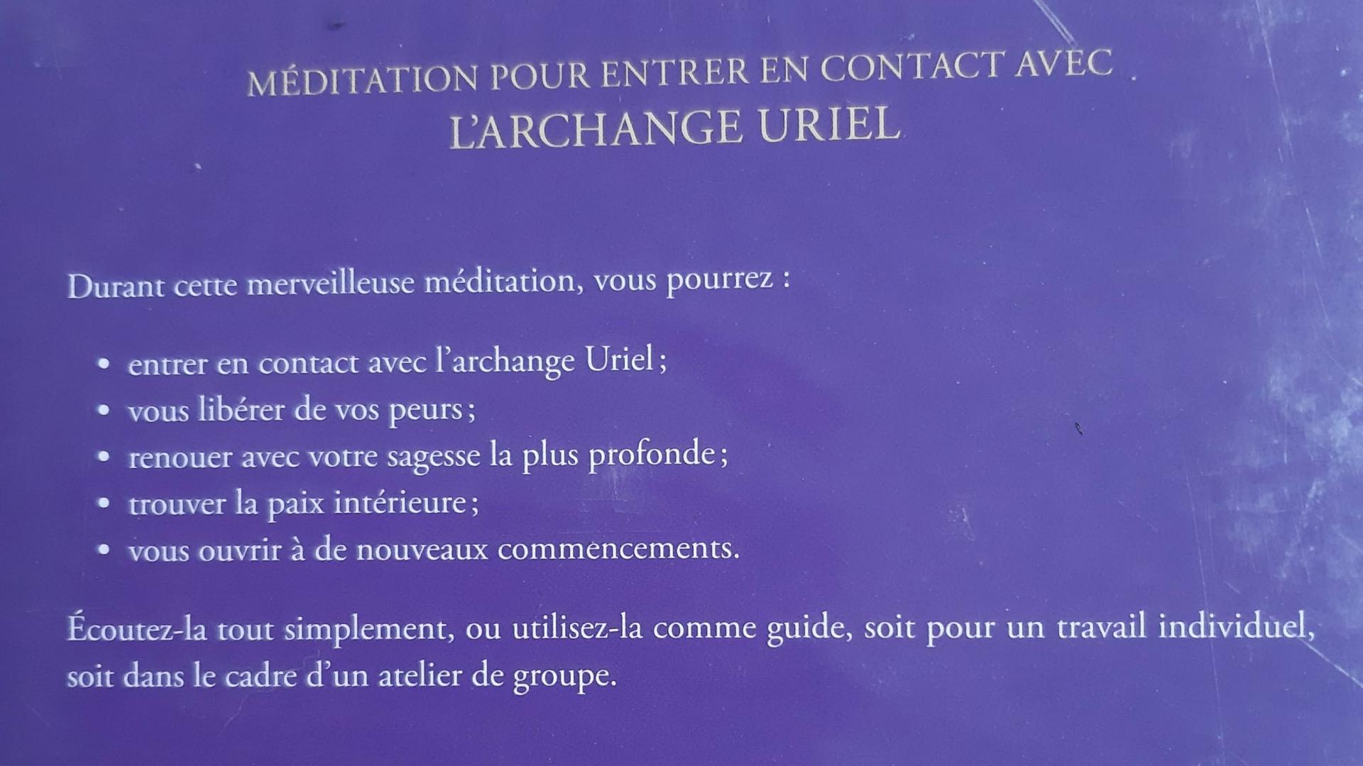 MEDITATION DE L'ARCHANGE URIEL DE DIANA COOPER