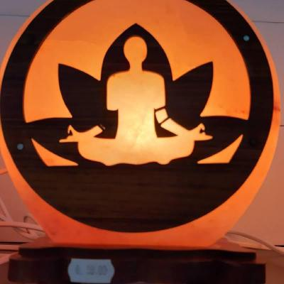 Lampe de sel de l'Himalaya artisanale méditation