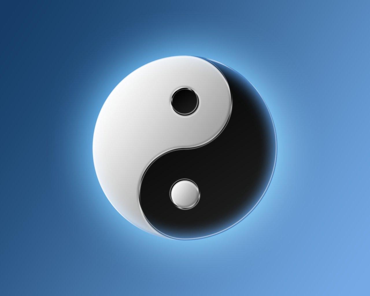 yin yang bleu