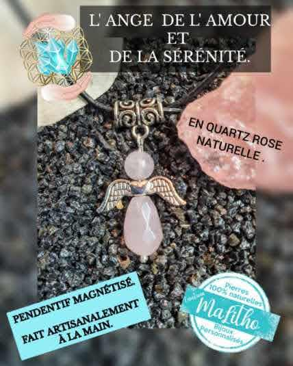 Ange en quartz rose