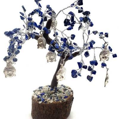 Arbre bonheur lapis lazuli bouddha 160 pierres