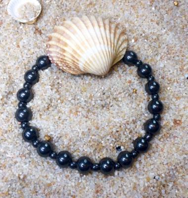 Bracelet en hematite aimante