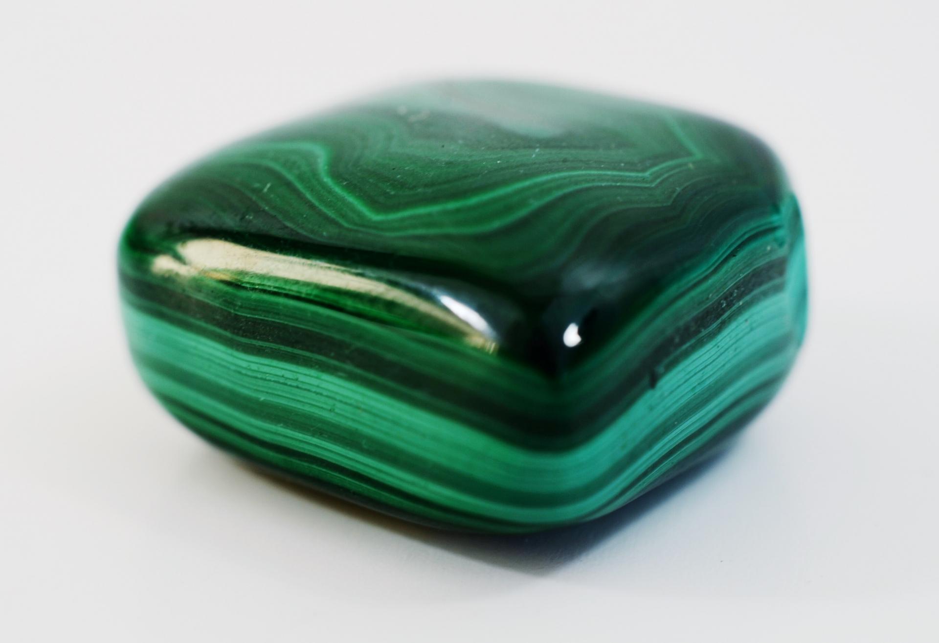 Malchite pierre roulée