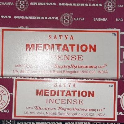 Encens Satya Méditation en bâton (15gr)