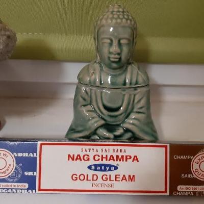 Encens Satya double parfum Nag Champa et Gold Gleam (bâtons)