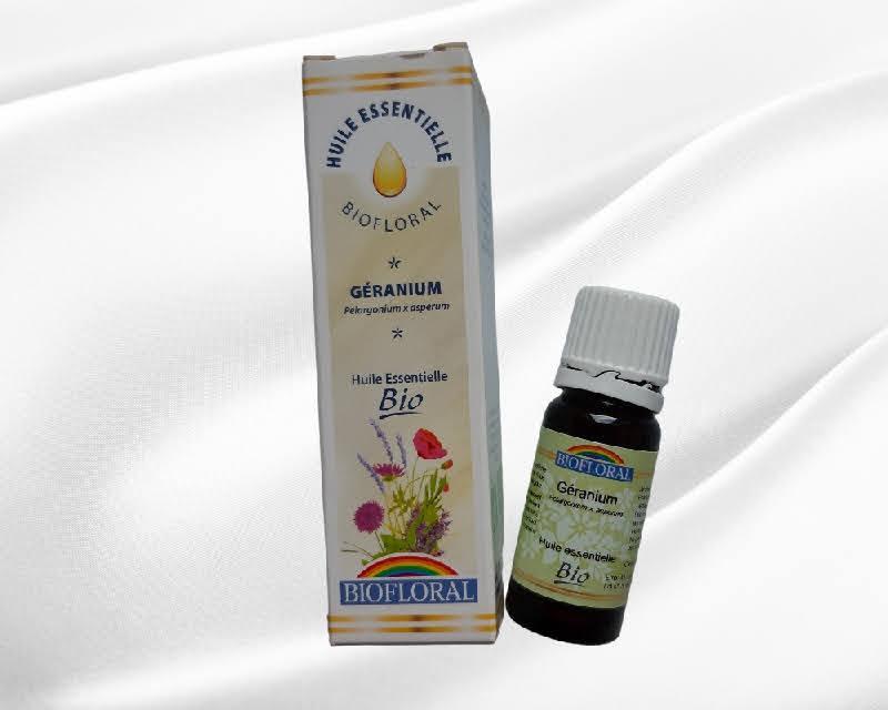 Huile essentielle biofloral geranium 100 naturelle