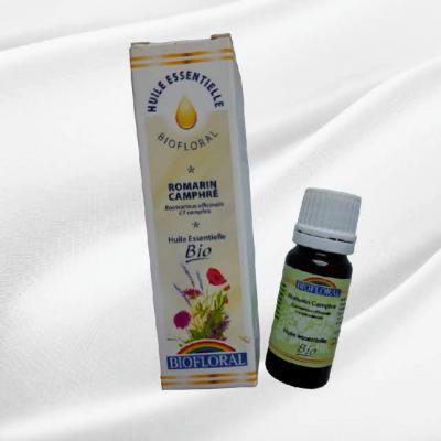Huile essentielle biofloral romarin camphre 100 naturelle