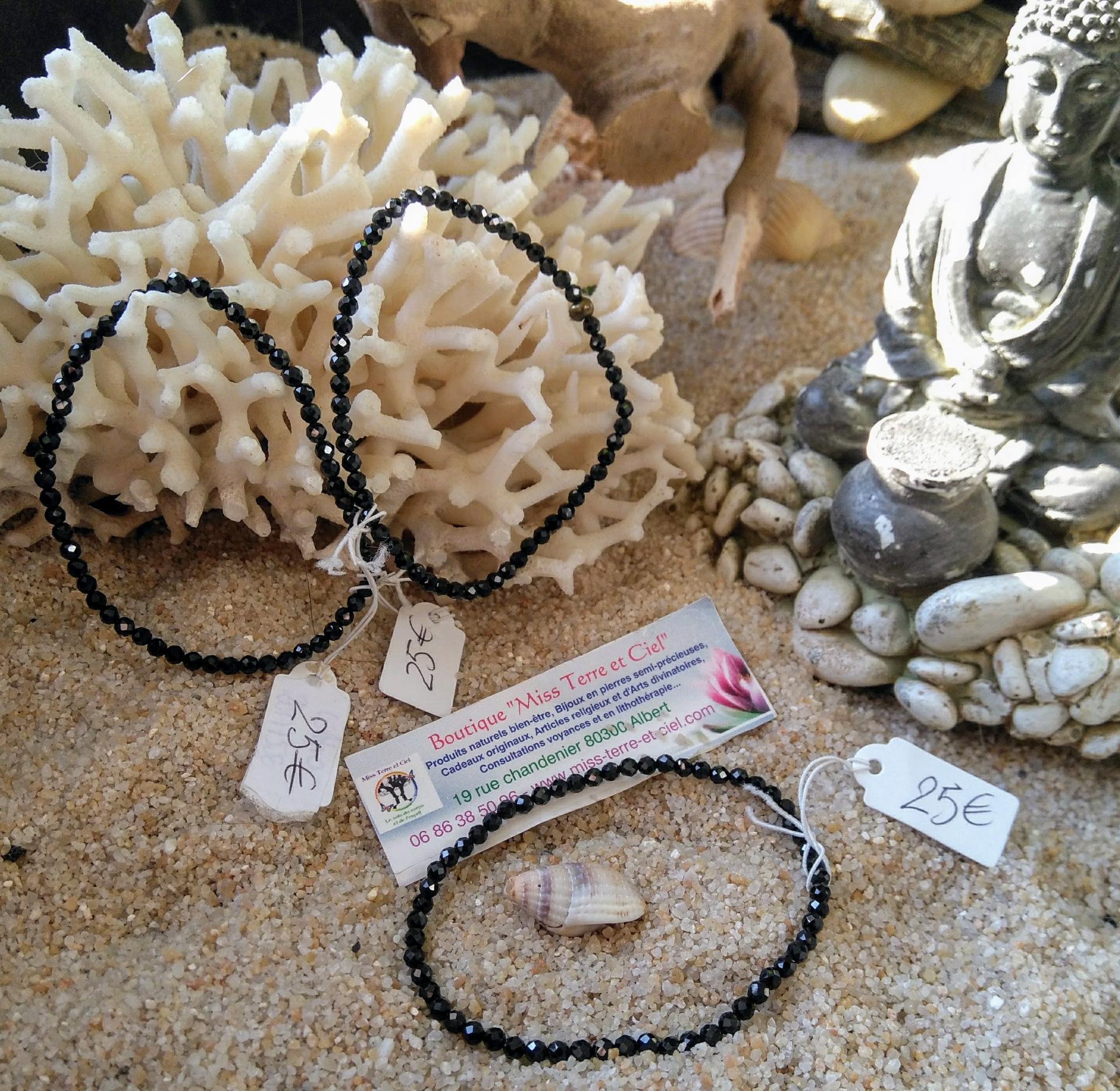 bracelet de spinelle noir