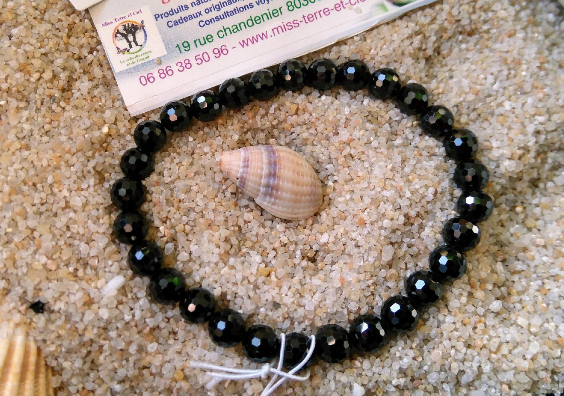 bracelet en obsidienne oeil celeste
