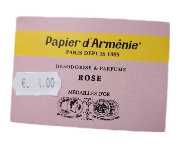 Papier d armenie rose