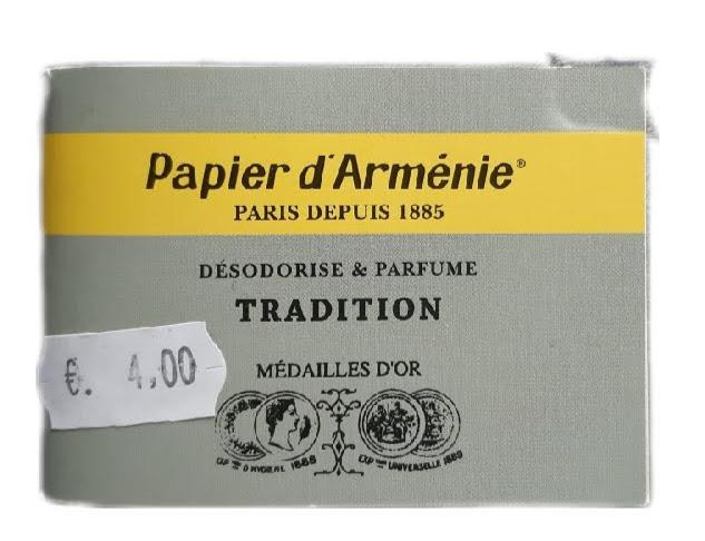 Papier d armenie tradition