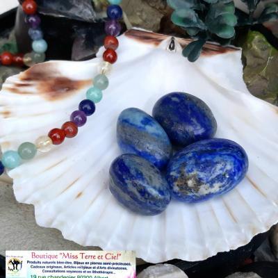 LAPIS LAZULI pierres roulées (vendu à l'unité)