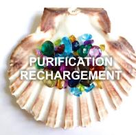 Purification rechargement pierres bijoux essens coquillesstjacques cristaux amethyste cristalderoche missterreetciel