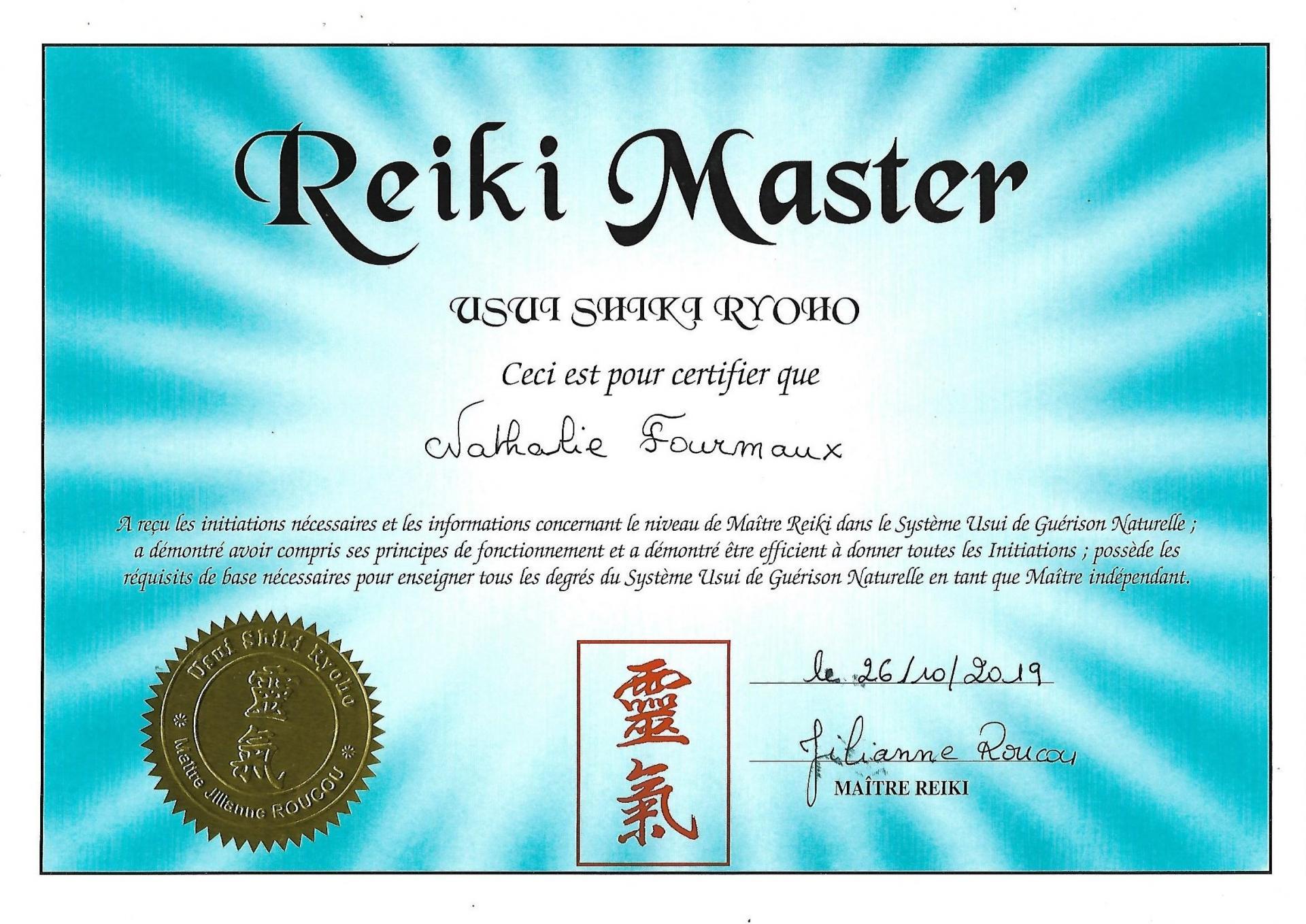Reiki Master Fourmaux Nathalie