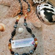 collier spécial douleur ambre magnétite hématite