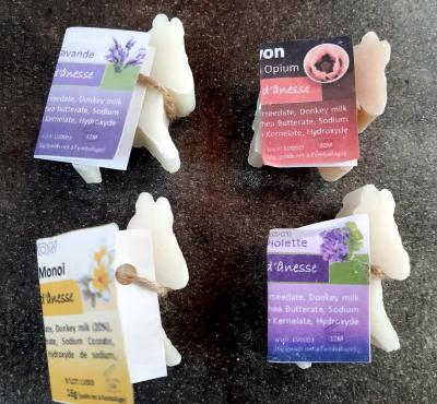 MINI SAVONS LUL'ANE 20% DE LAIT D'ANESSE (4 parfums au choix)-16GR
