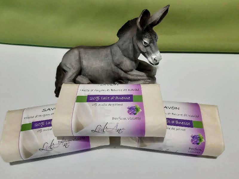 Savons au lait d anesse violette