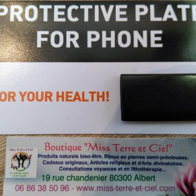 PROTECTION POUR LE TELEPHONE EN SHUNGITE