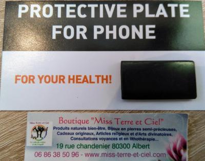 PROTECTION POUR LE TELEPHONE EN SHUNGITE