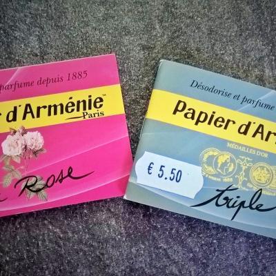 PAPIER D'ARMENIE pour ASSAINIR VOS PIECES D'HABITATION