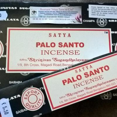 Encens satya PALO SANTO en bâtons (15gr)
